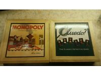 Monopoly and Cluedo wooden box