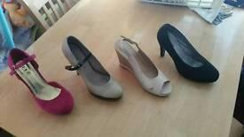 Bundle of women's high heel shoes size 7