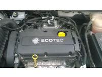 engine vauxhall astra new shape engine 1.6 1.8 32,000 miles