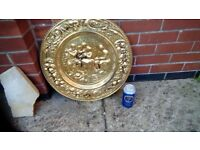 Large brass wall plate