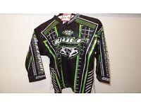 wulfsport race shirt motocross motox quad kids youth junior approx age 3-4 green
