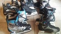 5 paires de patin hockey CCM Mission K2