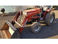 Compact tractor massey 1020,21hp, 4 in 1 loader