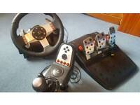 Logitech G27 Steering Wheel + Pedals + Manual Gears for PS3