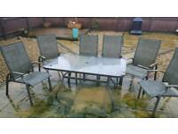 6 Reclining Garden Chairs with FREE Table