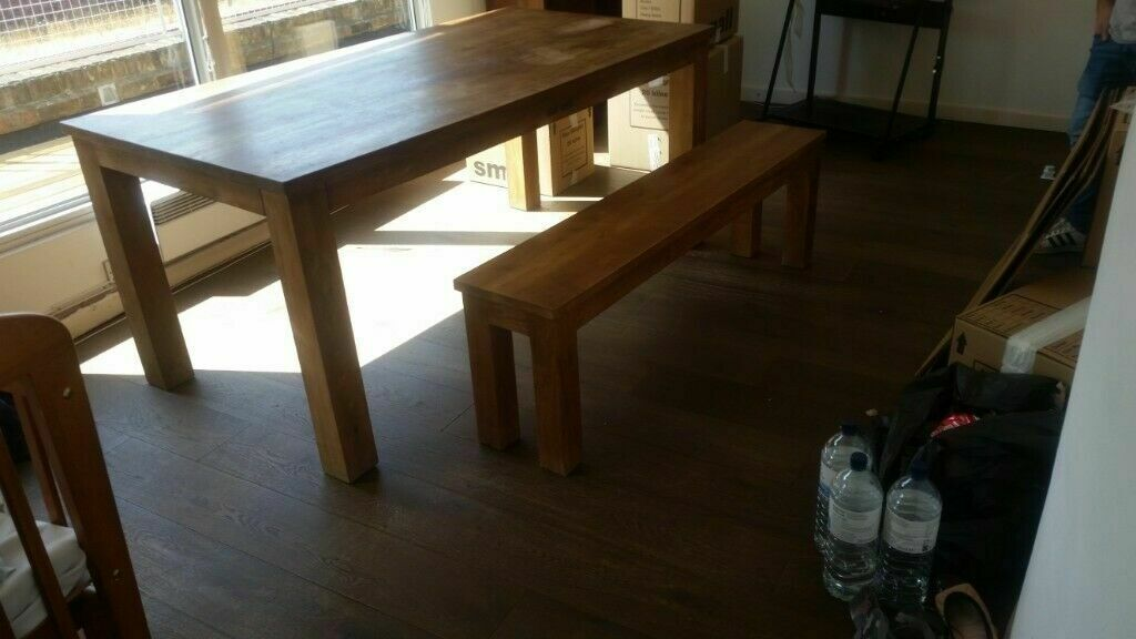 RAFT Lifestyle Dining Table 6 8 Seater And Standard Bench 2 Sets Of Legs USED GOOD CONDITION