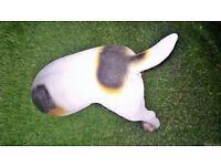 resin small dog digging posture.