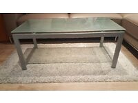 GLASS COFFEE TABLE / CONSOLE TABLE (IN VERY GOOD CONDITION)