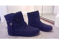 Size 4 Black Ankle-High Comfy Boots