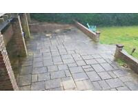 Jet washing high water pressure washer driveway patio decking garden