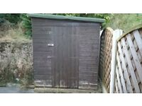 KIRTON 8' X 6' TONGUE AND GROOVED PENT SHED