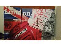London three piece canvas