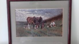 Ploughman's lunch framed picture