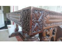 SOLID wood antique dining table frame