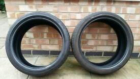 2x Bridgestone potenza tyres 205 40/17