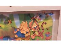 Pooh bear and friends 3D picture