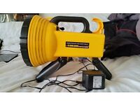 3,500,000 MILL CANDLE POWER LIGHT LED TORCH SPOTLIGHT HALOGEN FLASHLIGHT RECHARGEABLE