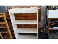 Bookshelf freestanding - white painted - 4 shelves