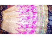 Beautiful New Pink and cream semi stitched lehenga choli set