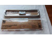 Brushed steel handles