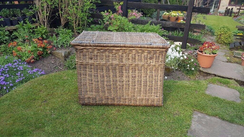 Antique wicker mill basket