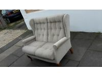 2 Seater Parker Knoll style chair - DELIVERY AVAILABLE
