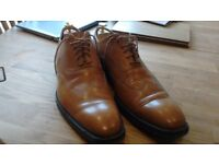 Gents GRENSON dress shoes in Tan 11/46- Ex cond