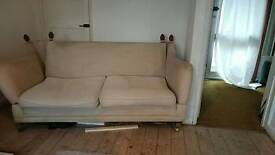 Cream DFS sofa