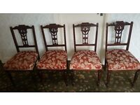Antique possibly Edwardian salon suite (9 pieces of furniture) including chaise longue £500 offers