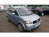 AUDI A2 1.6 FSI WITH ONLY 89,000 MILES FROM NEW AND MOT UNTIL JANUARY 2017 SPARES OR REPAIRS