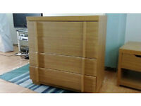 2 SETS OF BEDROOM WOODEN DRAWERS