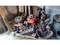 Fordson Power Major engine parts,full engine,spare sump,cylinder head,crankshaft.