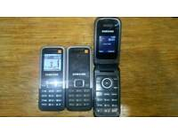 3 x samsung mobile phones.