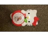 Hello Kitty Clock With Swinging Feet