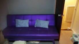 Metallic purple sofa bed girls futton