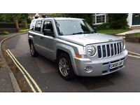 2008 JEEP PATRIOT LIMITED AUTO 2.4 PETROL 4X4 SILVER 1 PREVIOUS OWNER 86,000 MILES MOT MAY 2018