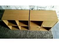 Used oak effect storage units cupboards flat pack furniture