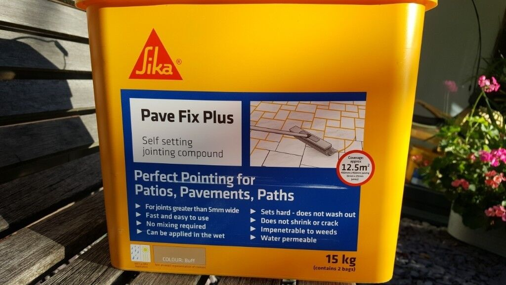 SIKA 'PAVE PLUS' Patio Grout - One 7 5kg bag, colour Buff (sandy colour) |  in York, North Yorkshire | Gumtree