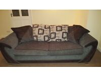 Large 3 seater settee and swivel chair
