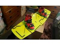 Wake boards and bindings