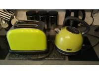 Great but used condition kettle and matching toaster..