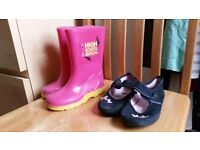 Wellies and school shoes Size 10