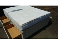 Nice King size bed complete with mattress. Quick FREE Delivery. Pocket sprung quality , no stains