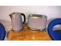 NEXT lilac toaster and kettle set