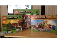 Lego Minecraft sets x3