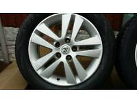 """Vauxhall 16"""" 5 stud Alloys complete with good Tyres"""