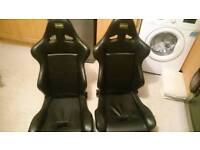 For sale omp leather bucket seats