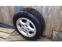 MR2:- complete 14 inch wheel and tyre