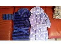 2 X dressing gowns age 1.5-2 yrs