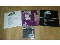 "3 x artic monkeys vinyl LP's + bonus 7"" when the sun"